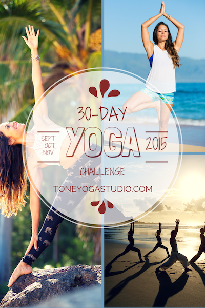 30-day Tone Studio Yoga Challenge Sept 2015
