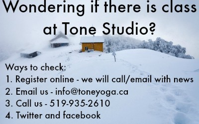 Wondering If There is Class at Tone Studio Today?