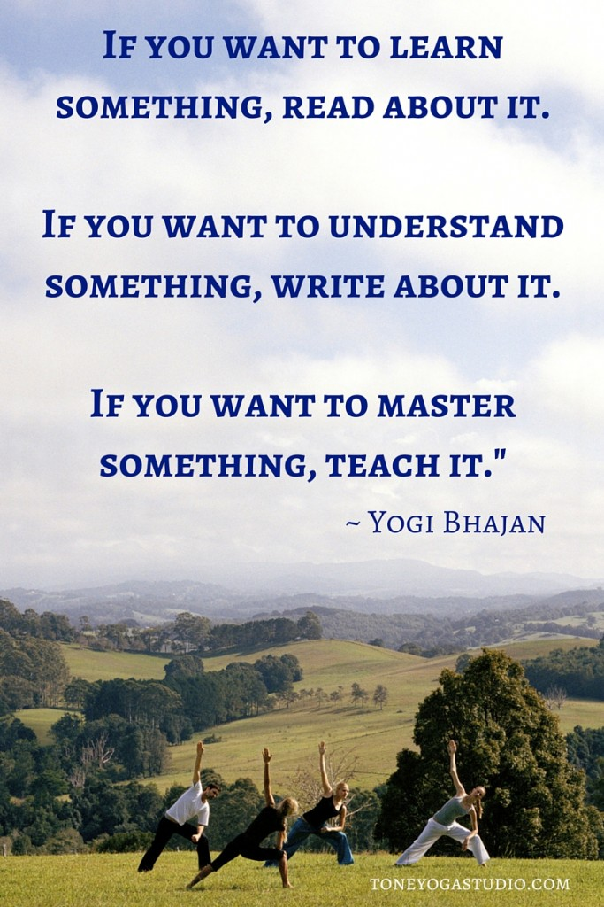 Yogi Bhajan read, write, teach